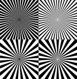 Ray Star Burst Background Set blanco y negro Vector libre illustration
