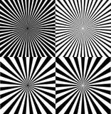 Ray Star Burst Background Set noir et blanc Vecteur illustration libre de droits