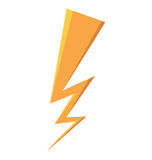 Ray storm climate isolated icon Royalty Free Stock Photos