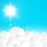Ray of Sun. Beautiful sky with clouds Ray of Sun Royalty Free Stock Image