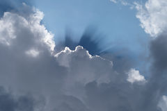 Ray of sunshine through the clouds Stock Photo