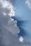 Ray of sunshine through the clouds Royalty Free Stock Photography