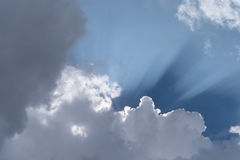 Ray of sunshine through the clouds Royalty Free Stock Photo