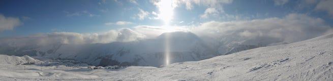 Ray of sunshine winter Stock Image