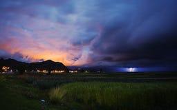 Ray Titicaca Lake Puno, Peru. Lake Titicaca, Puno Peru night lights Stock Photo