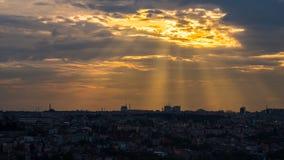 Ray van licht over Istanboel Royalty-vrije Stock Foto's