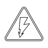 Ray volt sign icon. Illustration design Royalty Free Stock Photography