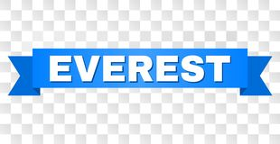Raya azul con el texto de EVEREST ilustración del vector