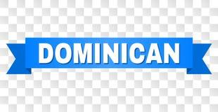 Raya azul con el texto DOMINICANO libre illustration