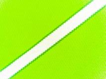 Raya blanca en la camiseta verde Fotos de archivo libres de regalías