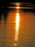 Raya de la puesta del sol Foto de archivo libre de regalías