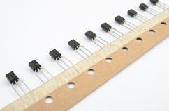 Raya de los transistores foto de archivo