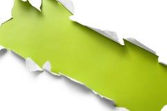 Raya de papel rasgada Fotos de archivo