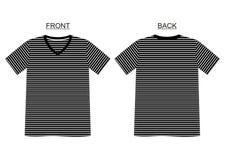 Raya del cuello en v de la camiseta de la plantilla Imágenes de archivo libres de regalías