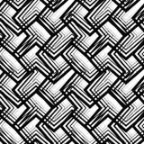 Raya el modelo inconsútil geométrico blanco y negro, backg del vector Imágenes de archivo libres de regalías