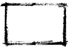 Raya exhausta de la brocha de la mano del Grunge Movimiento negro del cepillo de la tinta del vector Detalle del fondo de la pint libre illustration
