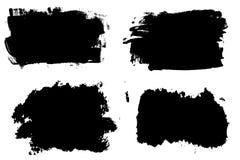 Raya exhausta de la brocha de la mano del Grunge Movimiento negro del cepillo de la tinta del vector Detalle del fondo de la pint ilustración del vector