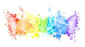 Raya horizontal de la acuarela multicolora foto de archivo libre de regalías