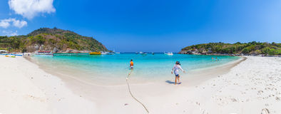 Raya island thailand panorama. Nice shot Royalty Free Stock Photography