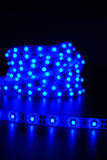 Raya llevada azul imágenes de archivo libres de regalías
