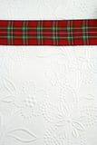 Raya roja de la tela escocesa Fotos de archivo