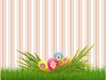 Raya rosada colorida de los huevos de Pascua del día de fiesta de Pascua libre illustration