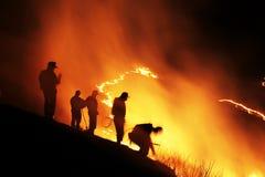 Raya vertical y quemadura Imagen de archivo libre de regalías