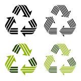 Rayado recicle los símbolos Foto de archivo