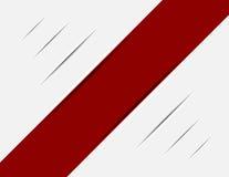 Rayado rojo en el rastro blanco Foto de archivo