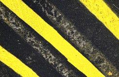 Rayage sur la surface de parking d'asphalte photos libres de droits