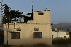 Rayak, Zahle-casa, Bekaa-vallei, Libanon, het Midden-Oosten op 4 van Juni 2019 Libanees Dorpshuis op een vreedzame middag stock fotografie