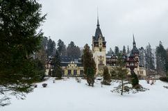 Rayal palace Peles. In winter Stock Images