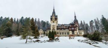 Rayal palace Peles. In winter Royalty Free Stock Image