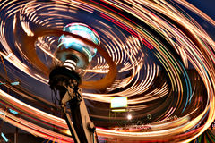 Rayar luces del paseo justo Foto de archivo libre de regalías