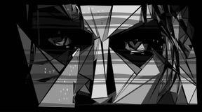 Rayas abstractas de la cara Foto de archivo