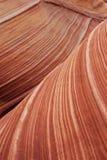 Rayas anaranjadas de la piedra arenisca Fotos de archivo libres de regalías