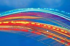 Rayas artísticas gráficas pintadas multicoloras Foto de archivo libre de regalías