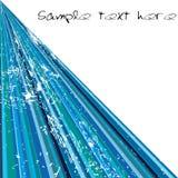 Rayas azules con el texto de la muestra Imagenes de archivo