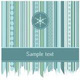 Rayas azules y diseño de tarjeta de los círculos Fotos de archivo libres de regalías