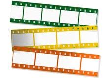 Rayas coloreadas de la película Imagen de archivo libre de regalías