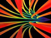 Rayas coloreadas en fondo negro imagen de archivo
