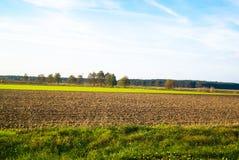 Rayas coloreadas tierra hermosa del paisaje del otoño Fotografía de archivo libre de regalías