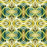 Rayas coloridas con cruzar las líneas onduladas modelos inconsútiles Vec Imágenes de archivo libres de regalías