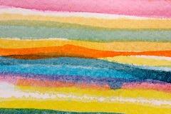Rayas coloridas 4 de la acuarela stock de ilustración