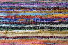 Rayas coloridas de la materia textil Foto de archivo libre de regalías