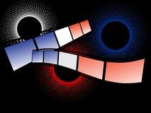 Rayas coloridas de la película Imagen de archivo libre de regalías