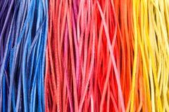 Rayas de cuero del color imagenes de archivo