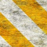 Rayas de cuidado del peligro de Yellow&White Imagenes de archivo