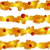 Rayas de la acuarela del Grunge, fondo colorido abstracto Fondo del vector Rayas y sphares amarillos del rojo del brillo Imágenes de archivo libres de regalías