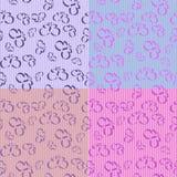 Rayas de la mariposa - 4 azulejos inconsútiles stock de ilustración